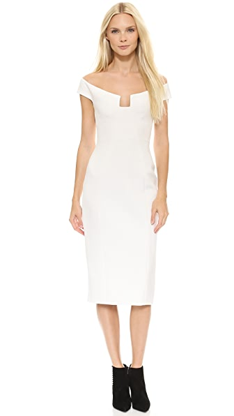 Cushnie Et Ochs Angular Neck Sheath Dress