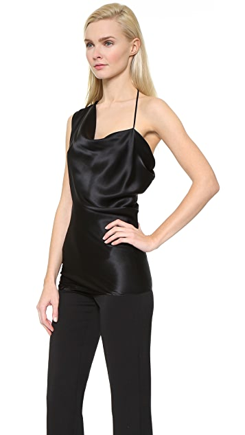 Cushnie Et Ochs Asymmetrical Satin Top