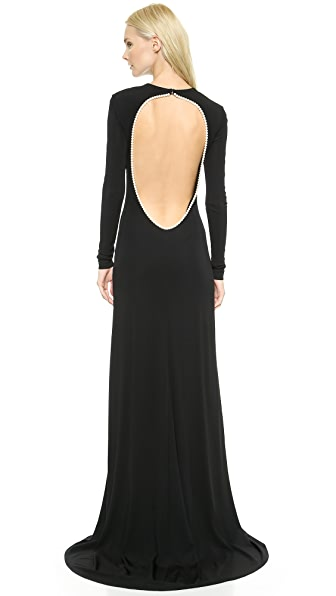 Cushnie Et Ochs Gown with Imitation Pearl Back