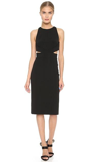 Cushnie Et Ochs Cutout Waist Dress