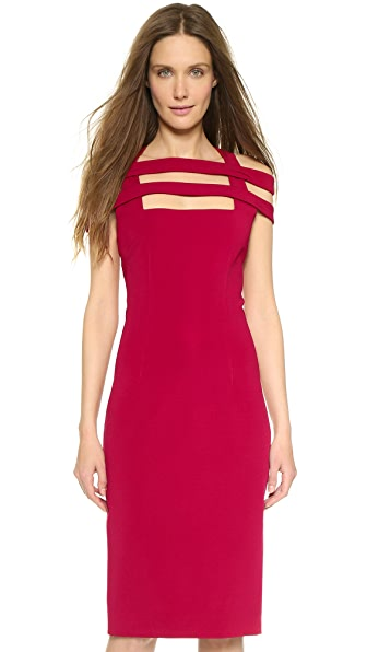 Shop Cushnie et Ochs online and buy Cushnie Et Ochs Lattice Strap Dress Red dresses online