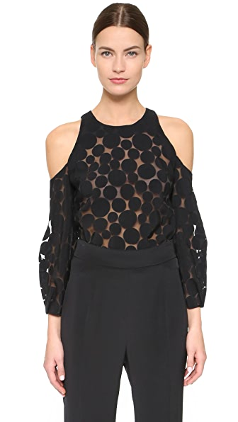 Cushnie Et Ochs Cold Shoulder Blouse