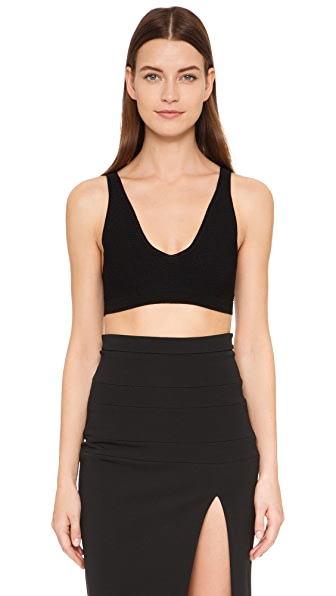 Cushnie Et Ochs Knit Crop Top - Black