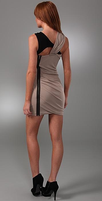Cut25 by Yigal Azrouel Sleeveless Cross Drape Dress