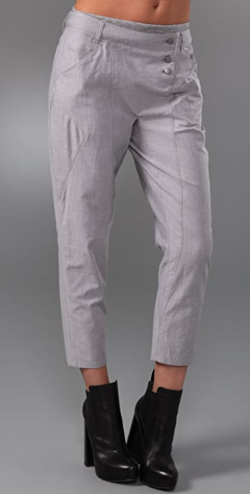 Cut25 by Yigal Azrouel Cropped Pants with Elastic Waistband