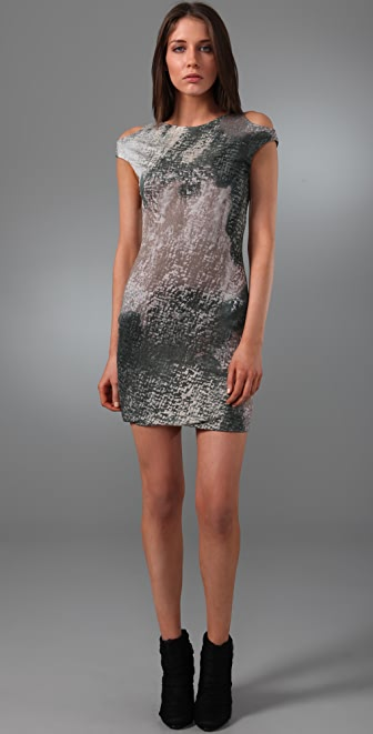 Cut25 by Yigal Azrouel Decay Print Dress