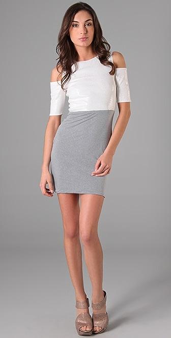 Cut25 by Yigal Azrouel Sequin Shoulder Cutout Dress
