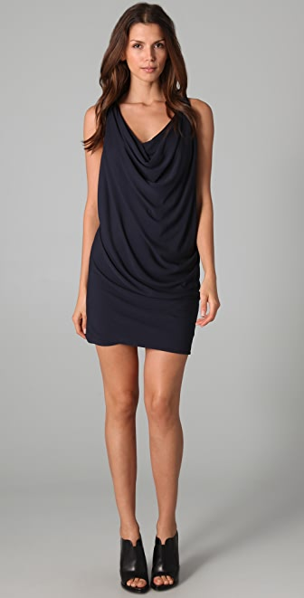 Cut25 by Yigal Azrouel Matte Jersey Draped Dress