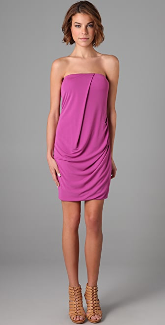 Cut25 by Yigal Azrouel Strapless Draped Dress