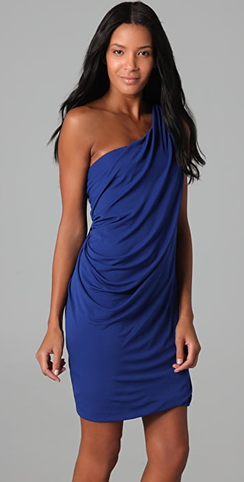 Cut25 by Yigal Azrouel One Shoulder Draped Dress