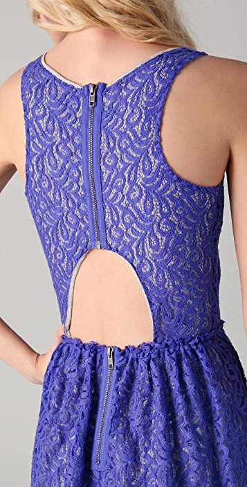 Cut25 by Yigal Azrouel Lace Dress with Open Back