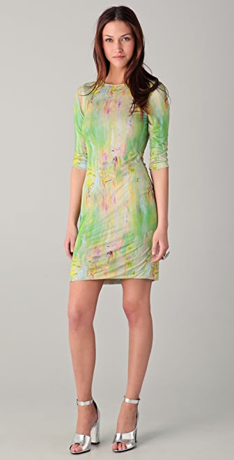Cut25 by Yigal Azrouel Rainbow Print Dress