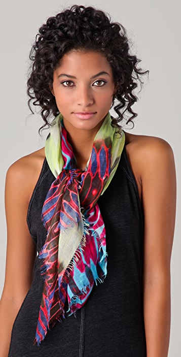 Cut25 by Yigal Azrouel Honey Comb Print Scarf