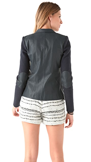 Cut25 by Yigal Azrouel Leather Panel Blazer