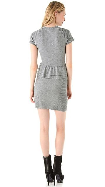 Cut25 by Yigal Azrouel Speckled Knit Peplum Dress
