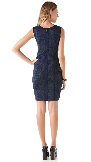 Cut25 by Yigal Azrouel Intarsia Power Sweater Dress