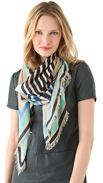 Cut25 by Yigal Azrouel Spiral Eye Printed Scarf