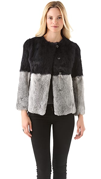 Cut25 by Yigal Azrouel Patchwork Fur Coat