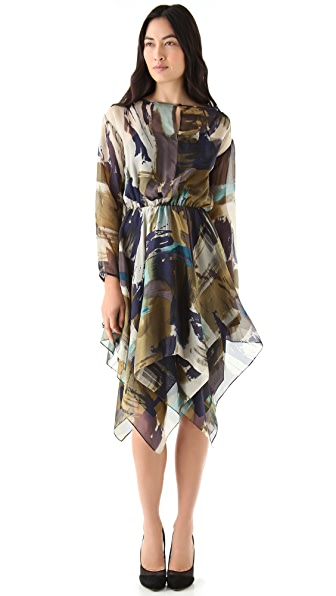 Cut25 by Yigal Azrouel Watercolor Chiffon Dress