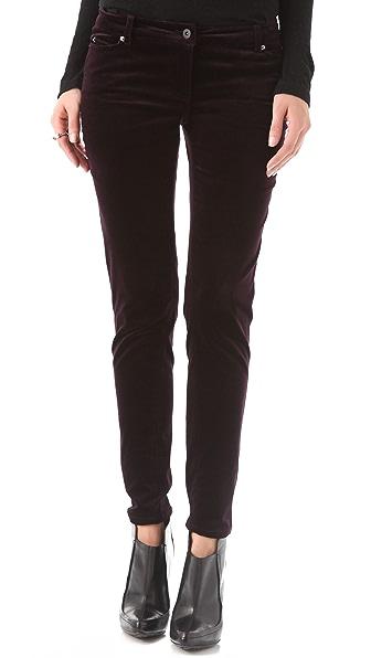 Cut25 by Yigal Azrouel Velvet Skinny Trousers