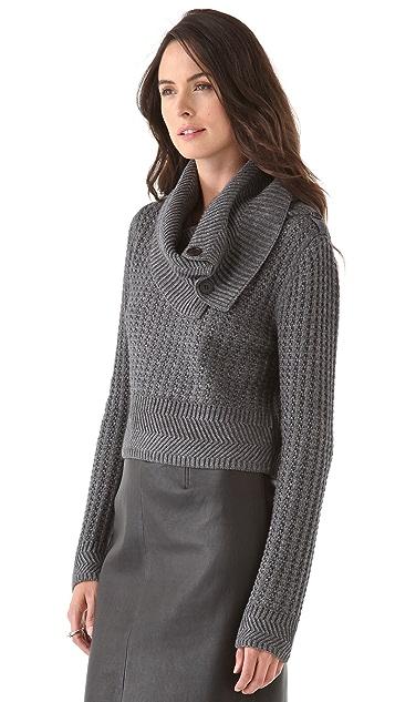 Cut25 by Yigal Azrouel Chunky Waffle Knit Sweater