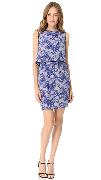 Cut25 by Yigal Azrouel Lace Print Shift Dress
