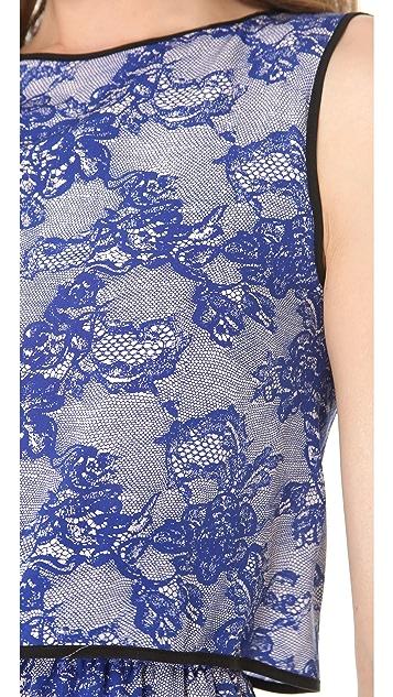 Cut25 by Yigal Azrouel Lace Print Shift Dress