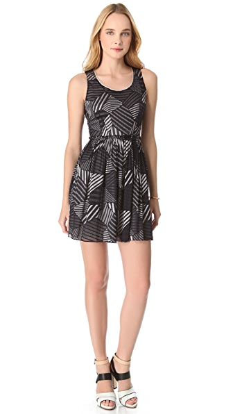 Cut25 by Yigal Azrouel Patchwork Chiffon Dress