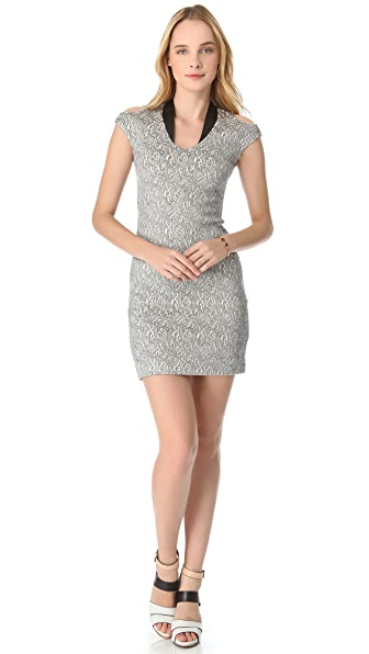 Cut25 by Yigal Azrouel Cloque Jacquard Dress