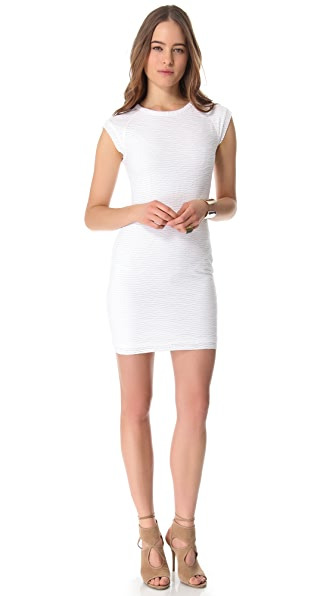Cut25 by Yigal Azrouel Broken Stripe Jersey Dress