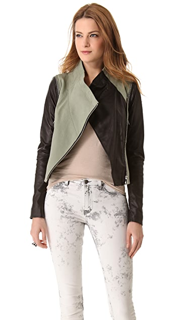 Cut25 by Yigal Azrouel Leather Combo Jacket