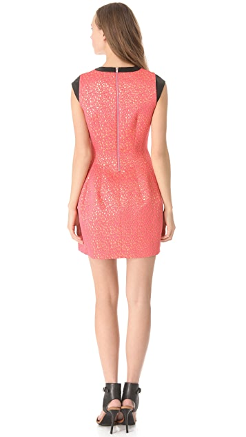 Cut25 by Yigal Azrouel Metallic Jacquard Dress