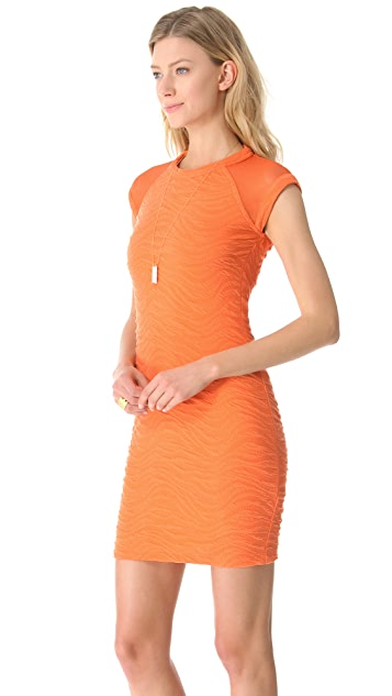 Cut25 by Yigal Azrouel Diagonal Texture Knit Dress
