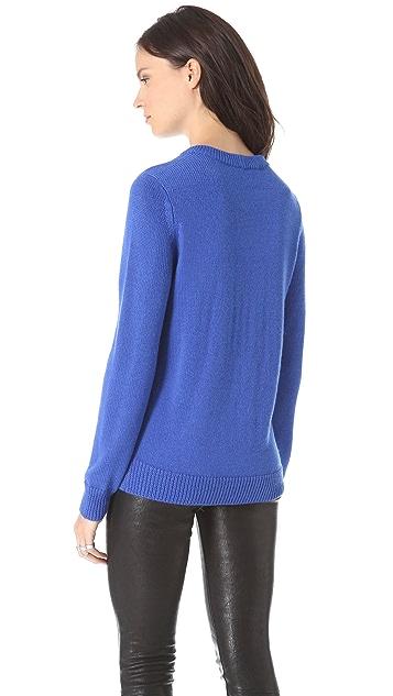 Cut25 by Yigal Azrouel Zipper Detail Sweater