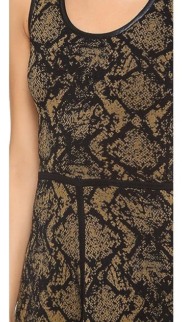 Cut25 by Yigal Azrouel Snake Sweater Dress