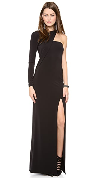Cut25 by Yigal Azrouel One Shoulder Long Sleeve Gown  SHOPBOP
