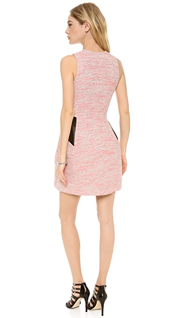 Cut25 by Yigal Azrouel Fit and Flare Tweed Dress