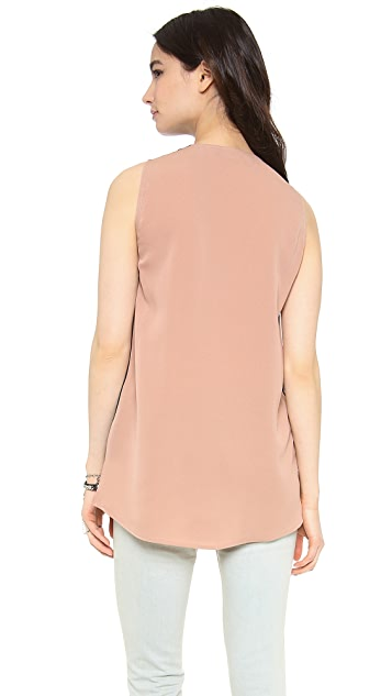 Cut25 by Yigal Azrouel Colorblock Cowl Neck Top