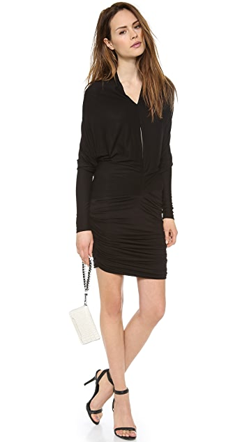 Cut25 by Yigal Azrouel Shirred Modal Dress with Cape