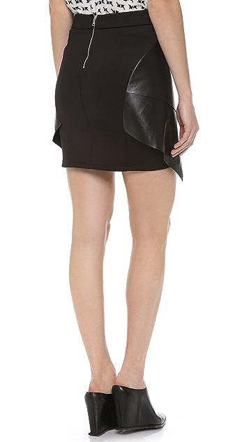 Cut25 by Yigal Azrouel Multi Layer Scuba Skirt