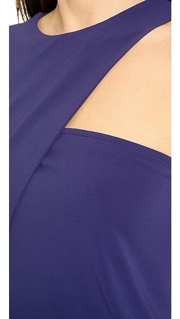 Cut25 by Yigal Azrouel One Sleeve Matte Jersey Top