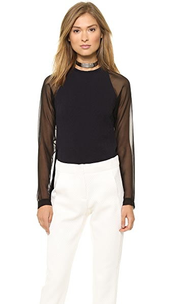 Cut25 by Yigal Azrouel Georgette Sleeve Top