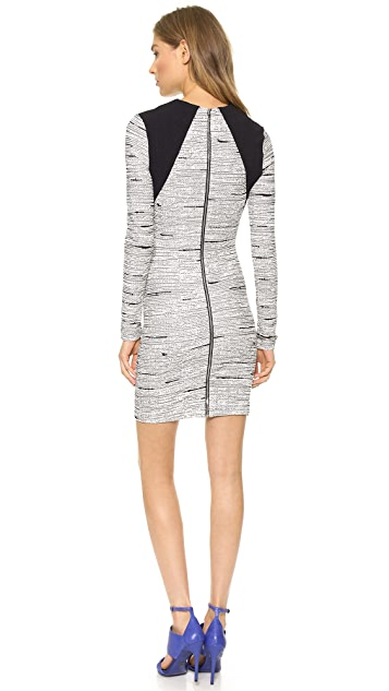 Cut25 by Yigal Azrouel Static Jacquard Knit Dress