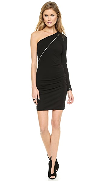 Cut25 by Yigal Azrouel One Shoulder Zip Front Dress