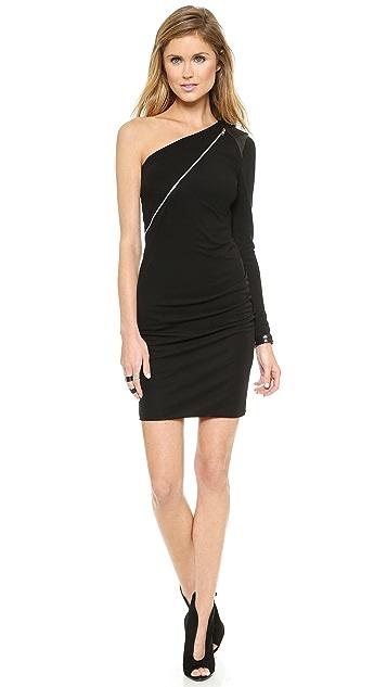 Cut25 by Yigal Azrouel One Shoulder Zip Front Dress