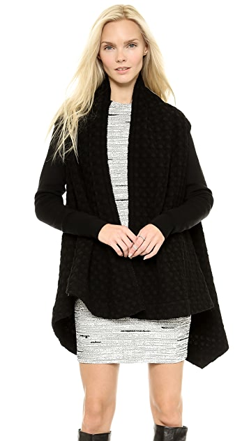Cut25 by Yigal Azrouel Draped Jacket with Ribbed Sleeves