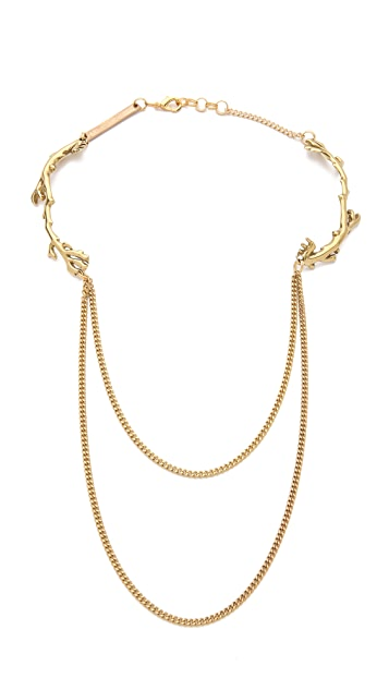 Cornelia Webb Sailed Double Coral Necklace