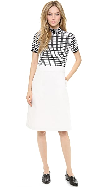 Creatures of the Wind Mock Neck Day Dress
