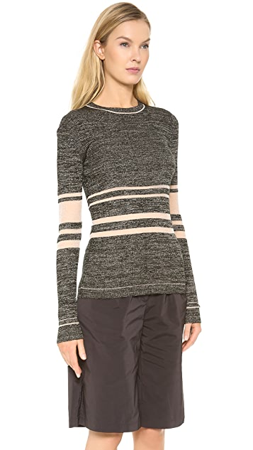 Creatures of the Wind Ribbed Sheer Stripe Pullover