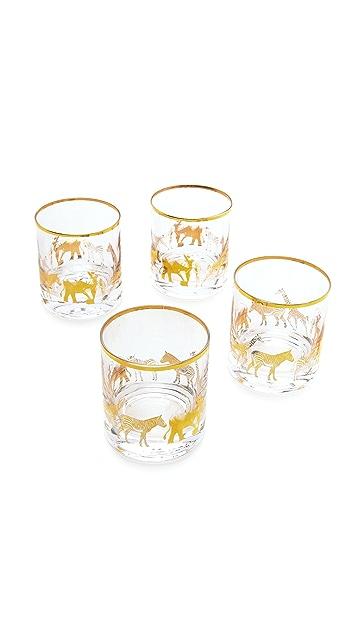 C. Wonder Short Animal Parade Drinking Glass Set